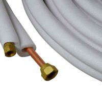 Kupferrohr weich isoliert – Dual 1/4″-3/8″x0,8mm (10m Rolle) mit Bördel Anschluss